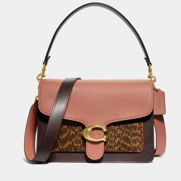a5539907ddc Tabby Shoulder Bag In Colorblock With Snakeskin